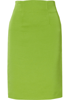 Versace - Ribbed-knit Skirt - Lime green
