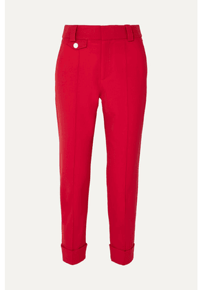 Proenza Schouler - Carrot Cropped Wool-blend Drill Tapered Pants - US0