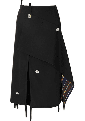 3.1 Phillip Lim - Asymmetric Embellished Wool Skirt - Black