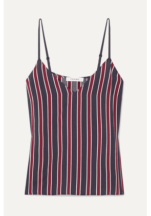 FRAME - Classic Striped Charmeuse Camisole - Navy