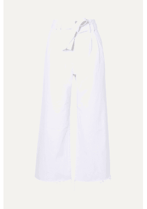 J Brand - Belted High-rise Wide-leg Jeans - White