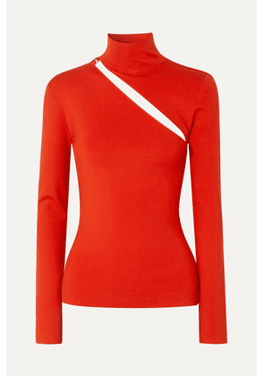 Dion Lee - Cutout Wool-blend Top - Tomato red