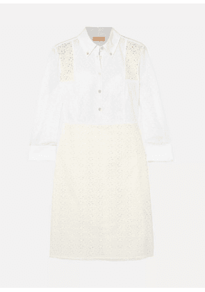 Tory Burch - Patchwork Broderie Anglaise Cotton Midi Dress - Ivory