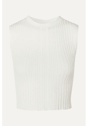 Dion Lee - Cropped Ribbed-knit Tank - Ivory