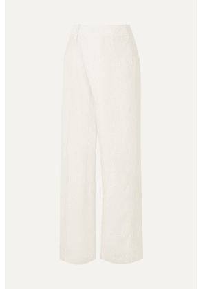 3.1 Phillip Lim - Wrap-effect Sateen Wide-leg Pants - Cream