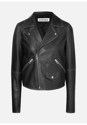 Loewe - Leather Biker Jacket - Black