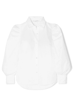 FRAME - Ruched Cotton-poplin Shirt - White