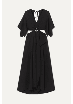 3.1 Phillip Lim - Cutout Crepe Maxi Dress - Black