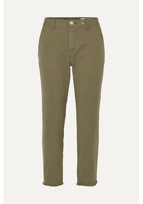 rag & bone - Buckley Cropped Cotton-blend Twill Straight-leg Pants - Green