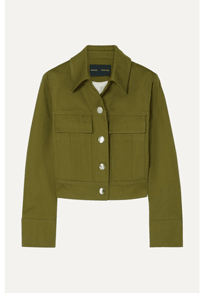 Proenza Schouler - Cropped Cotton-twill Jacket - Green