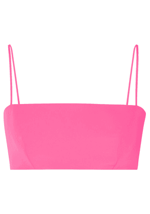Versace - Cropped Cady Bandeau Top - Pink