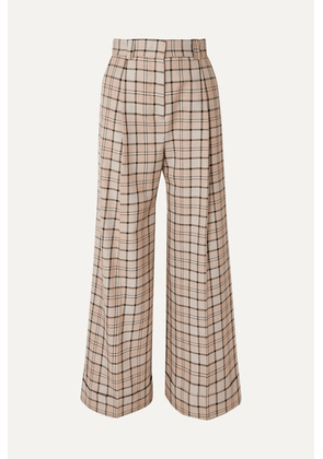 See By Chloé - Checked Woven Wide-leg Pants - Beige