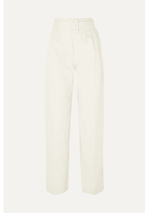 Off-White - Belted Cotton Straight-leg Pants - IT46