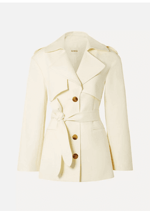Khaite - Billy Cotton-gabardine Coat - Cream