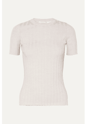 Helmut Lang - Cutout Ribbed Wool Top - Ivory