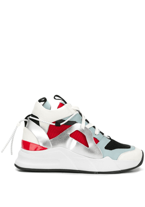 D.Gnak panelled high top sneakers - White