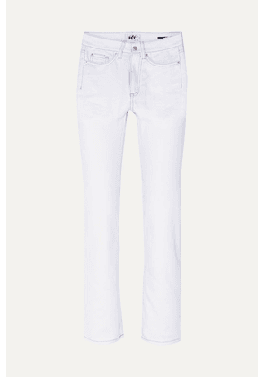 Eytys - Cypress Twill Cropped High-rise Straight-leg Jeans - White