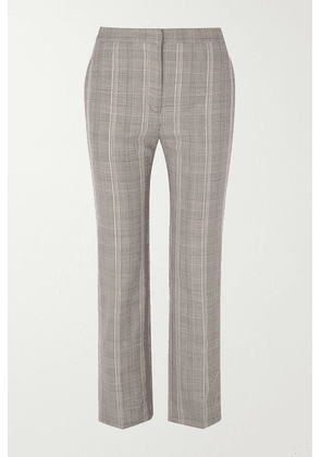 Alexander McQueen - Cropped Prince Of Wales Checked Woven Straight-leg Pants - Gray