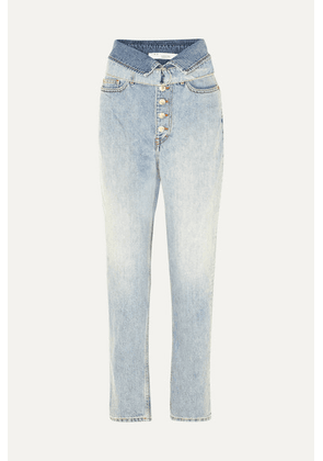 IRO - Fasti Belted High-rise Tapered Jeans - Light denim