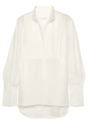 FRAME - Pintucked Linen-blend Shirt - White