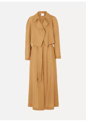 Agnona - Wool And Cashmere-blend Trench Coat - Brown