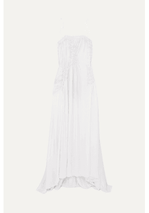 Ann Demeulemeester - Shirred Satin Gown - White