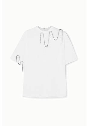 Christopher Kane - Squiggle Crystal-embellished Cotton-jersey T-shirt - White