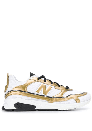 New Balance gold-tone detail sneakers - White