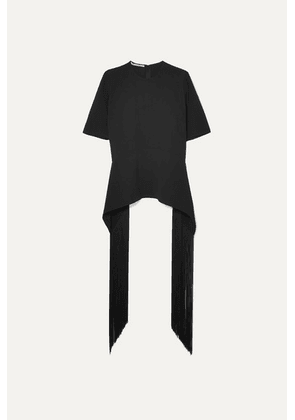 Stella McCartney - + Net Sustain Fringed Cady T-shirt - Black