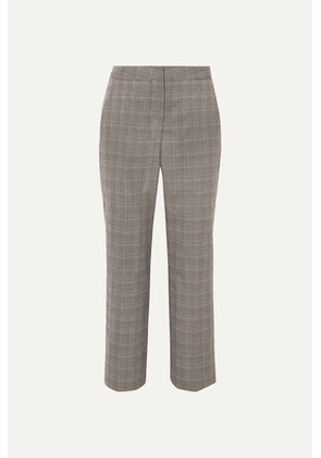 Stella McCartney - Prince Of Wales Checked Wool Straight-leg Pants - Gray