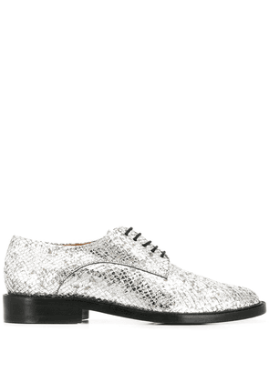 Clergerie snakeskin print shoes - SILVER