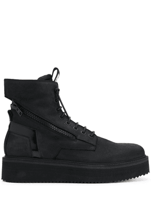 Bruno Bordese flatform lace-up boots - Black