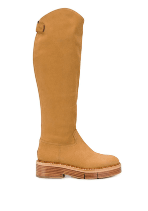 Clergerie knee-length fitted boots - Brown
