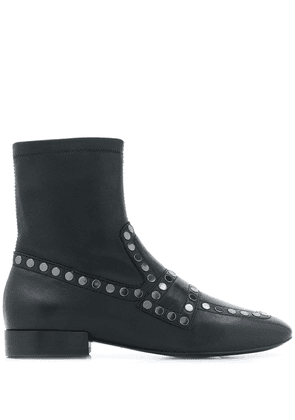 Ash studded Oracle ankle boots - Black