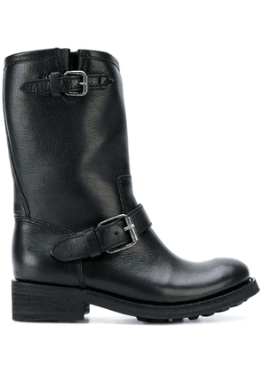 Ash mid-calf boots with buckles - Black