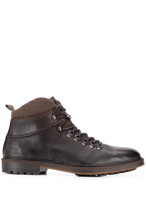 Barbour hook and eye ankle boots - Brown