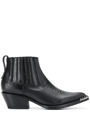 Ash Pepper spiked-toe ankle boots - Black