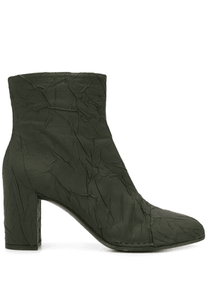 Del Carlo wrinkle effect ankle boots - Green