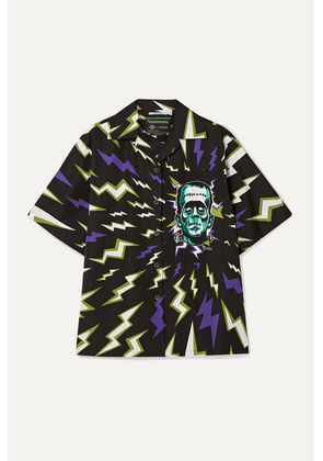 Prada - Oversized Printed Cotton-poplin Shirt - Black