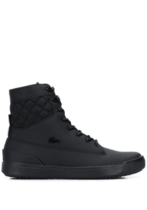 Lacoste logo high-top sneakers - Black