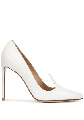 Francesco Russo pointed high heel pumps - White