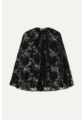 Prada - Lace Cape - Black