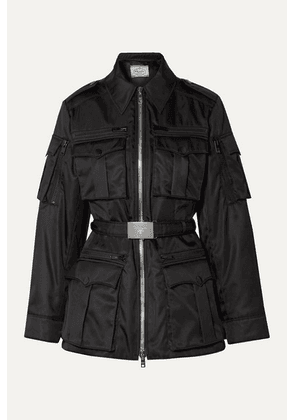 Prada - Belted Shell Jacket - Black