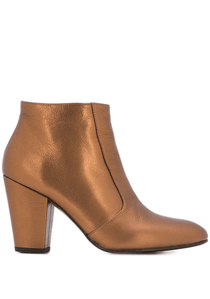 Chie Mihara chunky heel ankle boots - Metallic