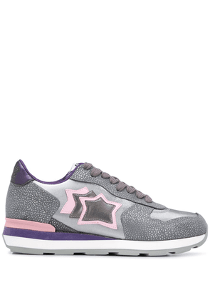 Atlantic Stars Vega contrasting panel sneakers - Metallic
