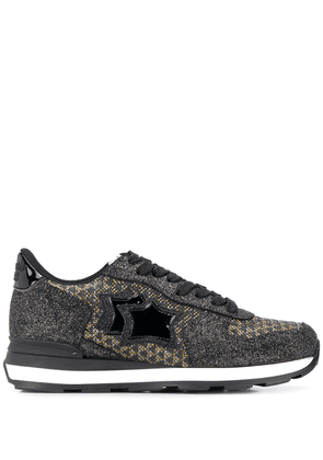 Atlantic Stars Vega glitter panelled sneakers - Black