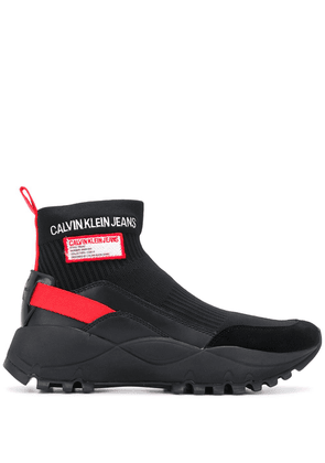 Calvin Klein Jeans oversized sock trainers - Black
