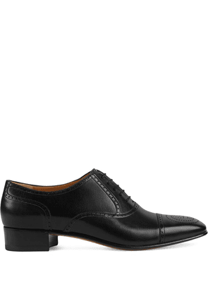 Gucci perforated Oxford shoes - Black
