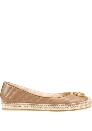 Gucci Marmont GG leather espadrilles - PINK