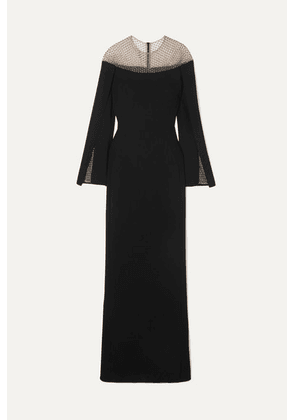 Stella McCartney - + Net Sustain Crystal-embellished Tulle And Cady Gown - Black